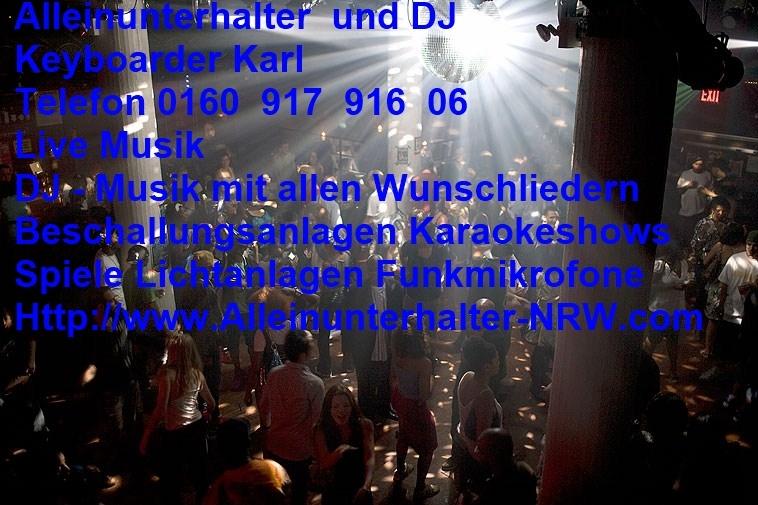 DJ Keyboarder Karl in Aachen mit Alleinunterhalter Live Musik und DJ Charts