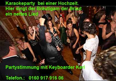Bräutigam singt seiner Frau Born to be Wild bei Karaoke