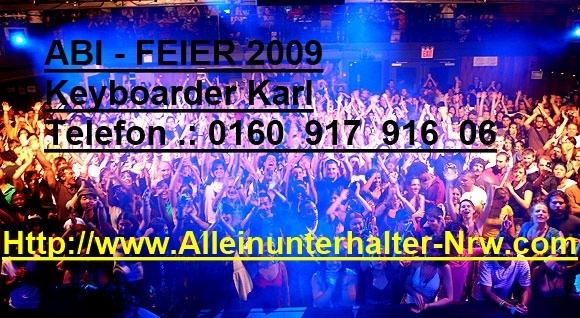 Abi-Feier mit Alleinunterhalter und DJ Keyboarder Karl 2009
