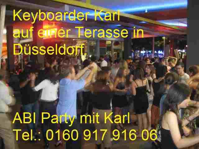 Abi Party und Abi Ball mit Keyboarder Karl Düsseldorf