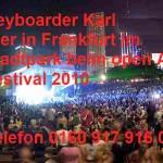 Alleinunterhalter Keyboarder Karl in Frankfurt am Main bei Open Air Festival