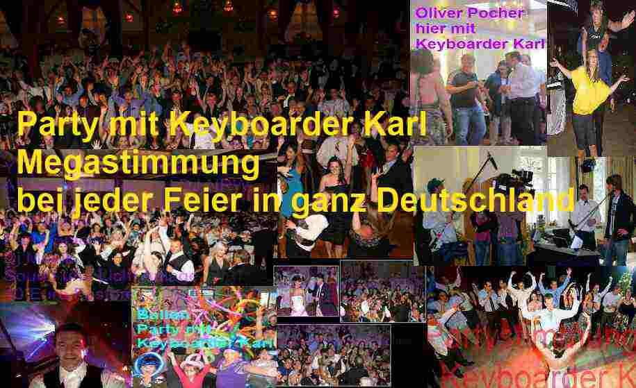 Stadtfest und Geburtstag sowie Hochzeit Fotos und TV Fotos mit Keyboarder Karl