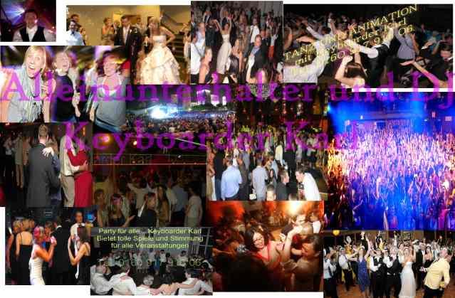 Alleinunterhalter Nrw Party Bilder Collage aus Geburtstag Hochzeit Stadtfest in Nrw