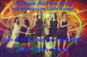 Lasershow mit Keyboarder Karl Alleinunterhalter und Party DJ