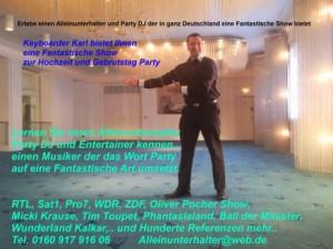 Alleinunterhalter NRW Party Dj NRW